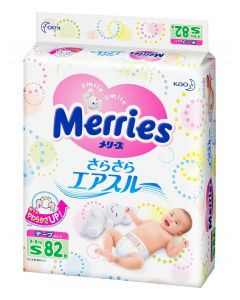 KAO Merries Tape Diapers S 82 Pieces