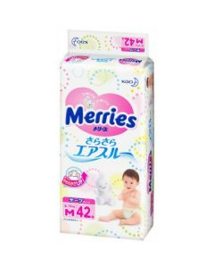 KAO Merries Tape Diapers M 42 Pieces
