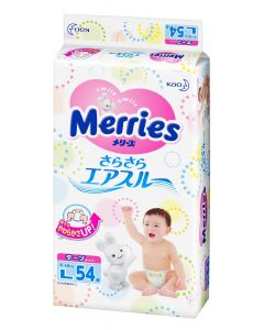 KAO Merries Tape Diapers L 54 Pieces